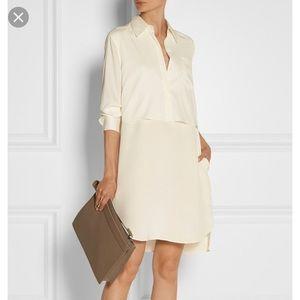 3.1 Phillip Lim silk satin shirt dress ivory cream